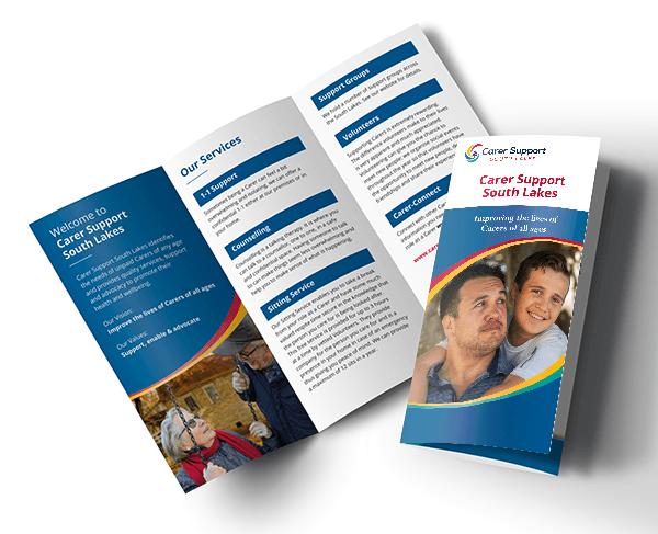 General Information leaflet mockup - cover and inside spread
