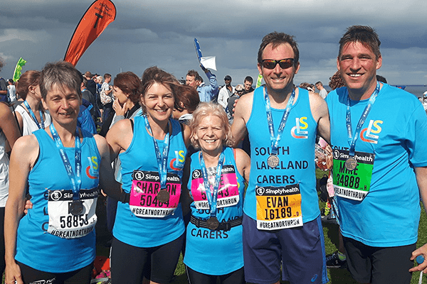 The Carer Support South Lakes team competing in the Great North Run and Fundraising for the charity
